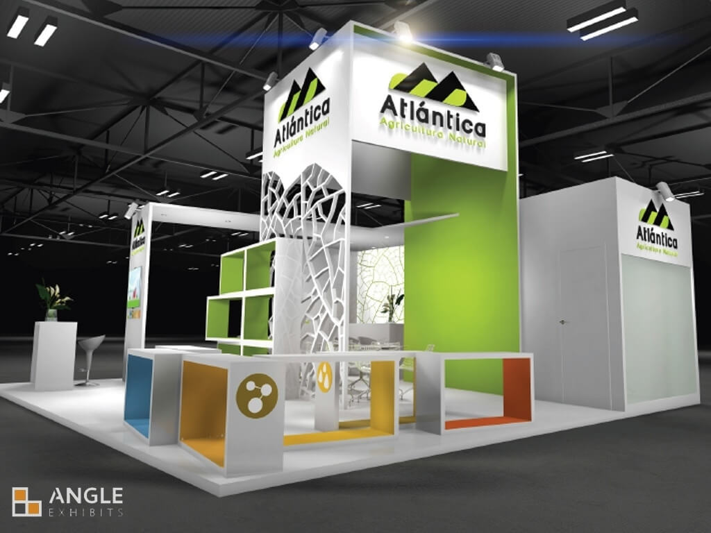 Corner Exhibition Stands Wa : Stands design angle exhibits desing build install