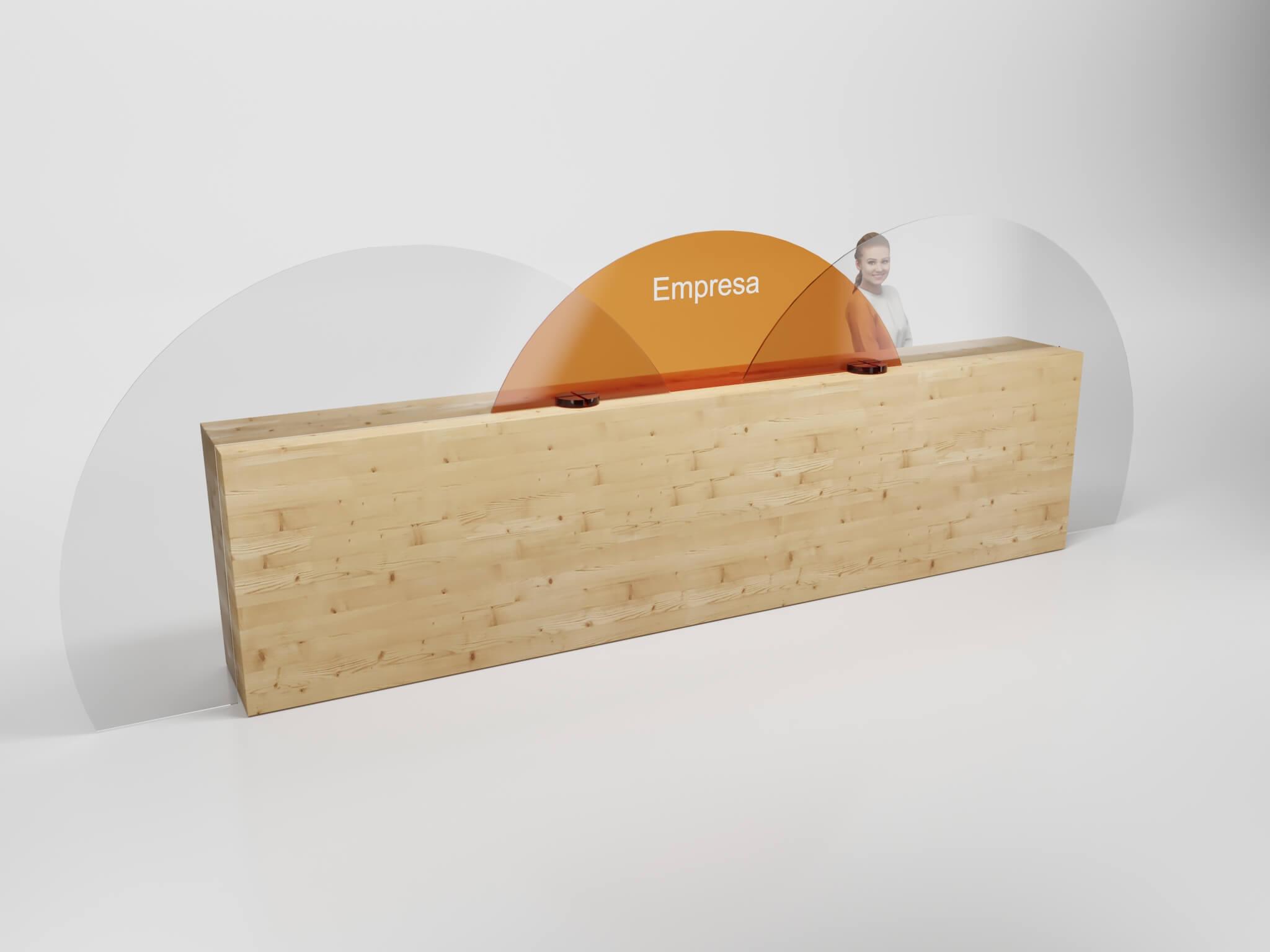 Mampara mostrador a medida circular